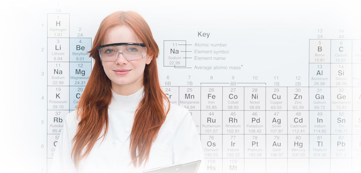 Chemist and Periodic Table